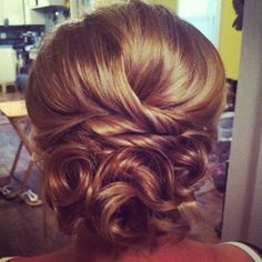 Wedding updo ❤ for Nick's wedding
