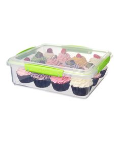 My favorite container for storing and transporting muffins and cupcakes.