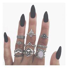 Instagram media bohomoon - ✖️ Matte black ✖️ rings in the sale now! Bohomoon.com