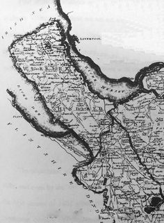 Wirral Map in 1807 New Brighton, Map Art, Liverpool, Moose Art, History, Prints, Genealogy, Mysterious, Flags