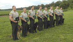 Police dog and handler graduation.