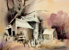 Late Day by sterling edwards Watercolor ~ 22 x 30