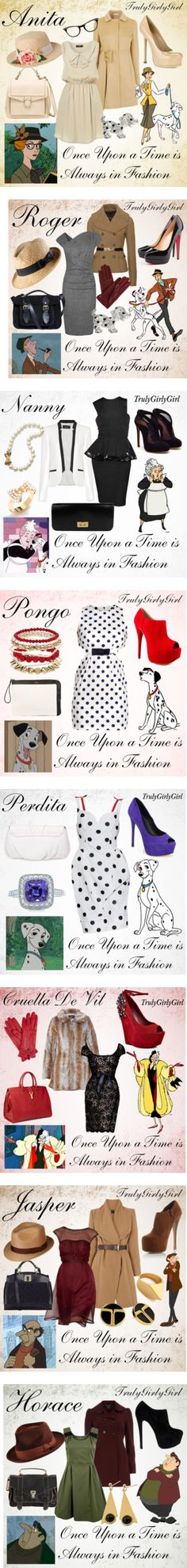 """Disney Style: 101 Dalmations Collection"" by trulygirlygirl - my favorites are Rodger, Jasper, and Horace. Disney Themed Outfits, Disney Bound Outfits, Disney Dresses, Disney Clothes, Adidas Samba, Adidas Superstar, Adidas Sl 72, Disney Inspired Fashion, Disney Fashion"