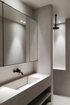 EN Apartment — Marc Merckx Interiors. could change kids bathroom boxed base to two shelves
