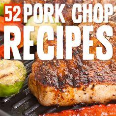 52 Pork Chop Recipes- the holy grail list of tasty & unique pork chop recipes! Paleo chop round-up~ Pork Recipes, Cooking Recipes, Healthy Recipes, Recipies, Grilling Recipes, Paleo Grubs, Paleo Diet, Paleo Pork Chops, Pork Loin