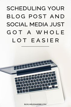 Scheduling your blog post and social media just got a whole lot easier with my editorial calendar system.
