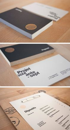 The Top 16 Food Business Cards - Design Ideas || Menu and business card design for Project 67 Restaurant by Philippe Cossette