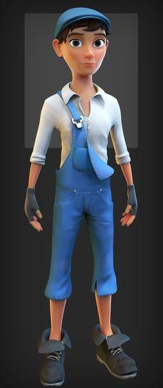Morgan (male) character design, Danny Mac on ArtStation at https://www.artstation.com/artwork/vJdvO