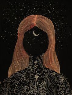 Resultado de imagem para long hair illust tumblr