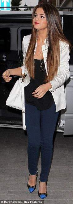 Nice to be able to see how to mix up things I already have in my wardrobe. Selena Gomez in London.