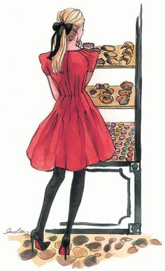 #bows #red #dresses #pastries
