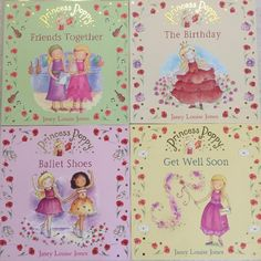 """These beautifully illustrated Princess Poppy series of books by Janey Louise Jones are great for young readers.Set of 5. Excellent Condition. Like New. 10/10Includes: 4 Paperback books; Titles: Get Well Soon, Ballet Shoes, Friends Together, The Birthday. The 5th book - """"The Play"""" includes CD to listen along which has never been played. The simple language and easy pace make it good for a first time reader. Original Price is $ 8 to 9 per book. Great value at $25 for the set."""