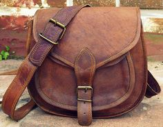 Genuine Leather Crossbody Purse Leather Handbag by pankajtheseller, $29.00