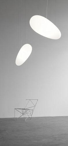 Avion floats in the room like a zeppelin aircraft, giving a unique lighting and athmosphere. Unique Lighting, Pendant Lighting, Kitchen Lighting, Lights, Inspiration, Berlin, Interiors, Design, Home Decor