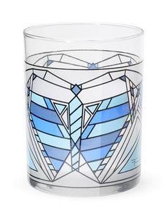 Butterfly Tumbler in Blue by MoMA - Set of 2