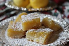 {Christmas Cookie Favorites} Lemon squares ~ A family favorite....and SUPER EASY & QUICK too!!!