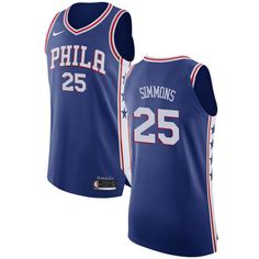 219dd9e2163e Nike 76ers  25 Ben Simmons Blue NBA Authentic Icon Edition Jersey