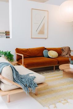 Pampa rugs, throws and cushions at our Byron Bay showroom with Pop&Scott