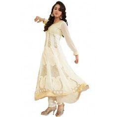 Shop Now - http://www.valehri.com/white-stylish-wedding-salwar-kameez-with-dupatta-487