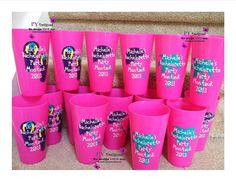 Personalized Bachelorette Party Plastic Tumblers with beach theme.