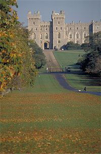 Windsor Castle, Berkshire, UK. One of the royal family's other homes when not in Buckingham Palace.