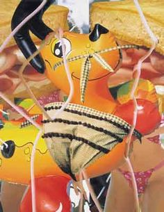 Hot Dog oil on canvas 108 x 84 inches x cm © Jeff Koons 2002 Jeff Koons Art, Tv Movie, Dada Art, Junk Art, Comic, Balloon Animals, Character Illustration, American Artists, Contemporary Artists