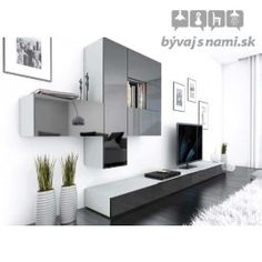 Browse modern and classic living room wall units for tv & entertainment center Contemporary Entertainment Center, Living Room Entertainment Center, Entertainment Units, 3 Living Rooms, Living Room Wall Units, Ikea Tv Unit, Modern Tv Wall Units, Modern Wall, Wall Unit Designs