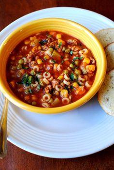 Minestrone, sopa para el otoño