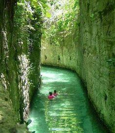 Ancient river canyon in Playa del Carmen, Mexico