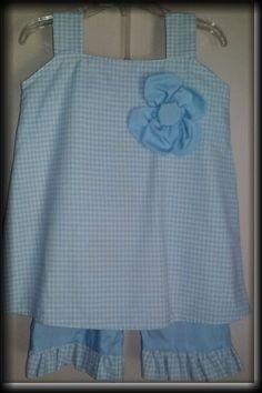 Blue Checks  www.facebook.com/buttonsandbowschildrensclothing Buttons, Apron, Summer Dresses, Bows, Outfits, Etsy, Blue Check, Fashion, Light Blue