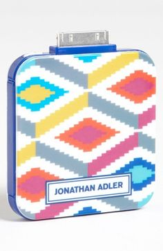 Jonathan Adler 'Stepped Diamonds - On the Go' iPhone  iPod Charger