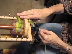 How to hand spin coiled yarn on a spinning wheel  from a thick and thin ...