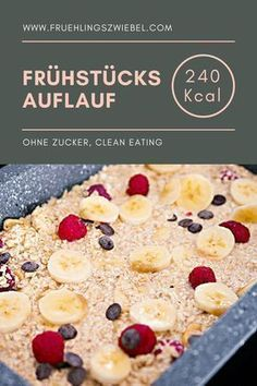 Baked Oatmeal basic recipe - Meal Prep for Baked Oatmeal Grundrezept – Meal Prep fürs Frühstück Ideal breakfast to prepare: Baked Oatmeal In my variant with banana and berries. The oatmeal casserole is easy to adjust and tastes great with other fruits - Basic Oatmeal Recipe, Oatmeal Recipes, Basic Recipe, Breakfast Desayunos, Breakfast Recipes, Breakfast Cooking, Breakfast Casserole, Snacks Sains, Baked Oatmeal