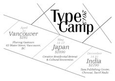 Typography. Informational poster based off typography camps.
