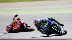 VR 46 - Argentina 2015 - Back tire vs. front tire... the back always wins ;-)