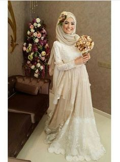 .. Muslim Wedding Gown, Muslim Wedding Dresses, Muslim Brides, Wedding Hijab, Elegant Wedding Dress, Wedding Party Dresses, Bridal Dresses, Bridesmaid Dresses, Hijab Dress Party