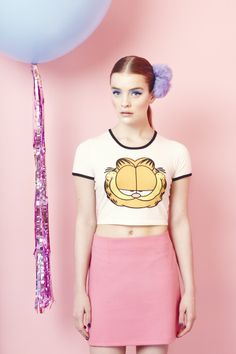 Lazy Oaf x Garfield Thats What I'm Talking About Crop Top http://www.lazyoaf.com/lazy-oaf-x-garfield-thats-what-im-talking-about-t-shirt-2