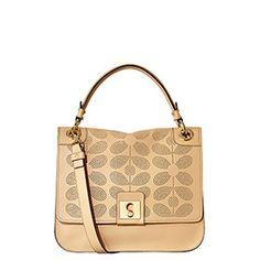 Sixties Stem Leather Ivy Bag Desert