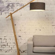 Montblanc Floor Lamp Good&Mojo • WOO .Design Diy Floor Lamp, Wooden Floor Lamps, Swing Arm Floor Lamp, Floor Lamp Base, Arch Lamp, Bois Diy, Torchiere Floor Lamp, Standard Lamps, Flooring