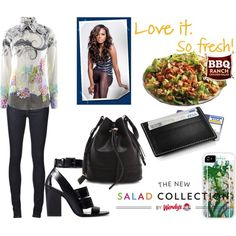 Spring Style & Wendy's® #NewSaladCollection: Pt. 1 by coppin-s on Polyvore featuring Etro, Kill City, Zara, Joie, Stelton and NewSaladCollection