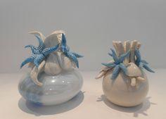 Profumatori, Bomboniere per Matrimonio in porcellana con decoro tema mare