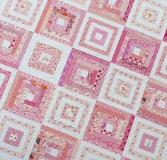 Quilts on Bastings: February 2010 Pink Quilts, Country Quilts, Log Cabin Quilts, Liberty Fabric, Gorgeous Fabrics, Quilting Designs, Crafty, Pattern, Handmade