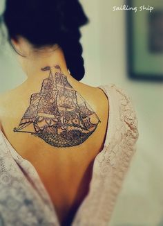 sailing ship tattoo #sailing