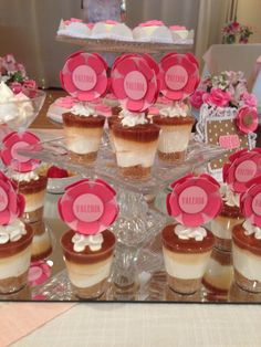 Flowers dessert toppers