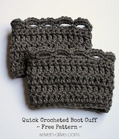 Quick Crocheted Boot Cuff ~ Free Pattern - Seven Alive