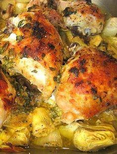 The Chew's Baked Artichoke Chicken