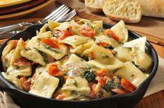 raviolis carne espinacas