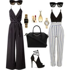 A fashion look from July 2017 featuring River Island tops, Topshop pants and Givenchy shoulder bags. Browse and shop related looks.