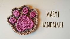 Supercute and Easy Paw by MaryJ Handmade ~ FREE download - CROCHET she also has a video