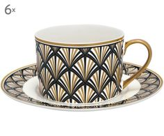 Tag Art, Clear Coffee Mugs, Art Nouveau, Retro Interior Design, Art Deco Stil, Colorful Quilts, Teapots And Cups, Art Deco Furniture, Porcelain Mugs